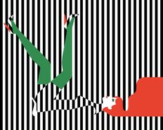 Malika Favre - the Wonderland collection for Korean luxury brand Couronne Tiphaine-illustration   #Couronne #opticalillusion  #stripes