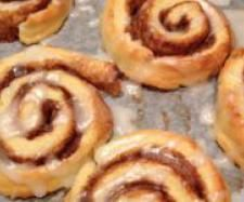 "Thermomix cinnamon scrolls... so yummy, really quick and easy, and great for a last minute ""I've got nothing else!"" kind of thing, because they are all ingredients I usually have in the pantry! :)"