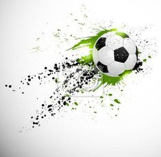 """Wall Mural """"soccer, grunge, ball - soccer design"""" ✓ Easy Installation ✓ 365 Day Money Back Guarantee ✓ Browse other patterns from this collection!"""