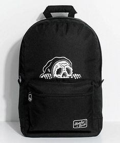 The Lurker backpack from Lurking Class by Sketchy Tank offers edgy style and ample storage space. This black canvas design has two storage compartments, a padded laptop sleeve and a white Lurking Class by Sketchy Tank graphic embroidered o Grunge Backpack, Vans Backpack, Laptop Backpack, Backpack Bags, Messenger Bags, Laptop Bags, Duffle Bags, Travel Backpack, Mochila Grunge