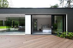 open-plan bedroom exterior forest house design
