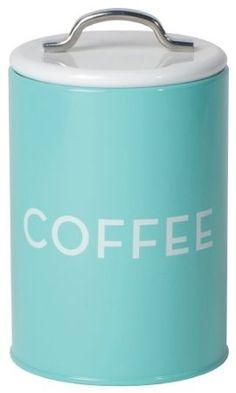 Amazon.com: Now Designs Coffee Tin, Turquoise: Home & Kitchen