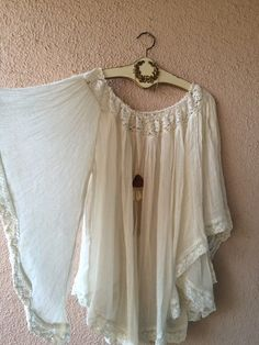 Image of RESORT BEACH Jens Pirate Booty OFF SHOULDER gauze bell sleeve hippie gypsy tunic