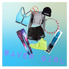 """RAVER GIRL"" by jaxx-korzo-zakeel on Polyvore featuring Joomi Lim, Yves Saint Laurent, Alexis Bittar and Gucci"