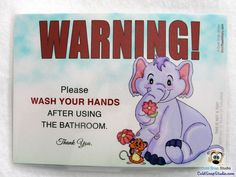 Wash Your Hands After Using the Bathroom Sign - Flower Friends #bathroom #kids #etsy