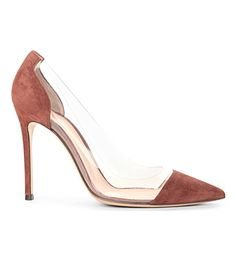 GIANVITO ROSSI Calabria suede court shoes (Wine