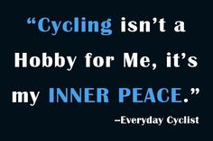 What is cycling for you?