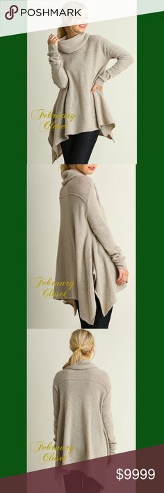 1-DAY SALEA Line Cowl Neck Sweater Cool weather calls for this Cozy Softest Ever Cowl Neck Sweater. New from Vendor. February Closet Sweaters Cowl & Turtlenecks