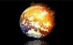 Art Burning Earth Wallpaper - HD Wallpaper Rate