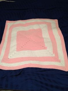 White and pink baby blankie