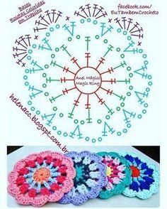 Cómo hacer mandalas con crochet o ganchillo (Patrones Gratis) - El Cómo de las. - Places to visit - Knitting For BeginnersKnitting HatCrochet PatternsCrochet Ideas Motif Mandala Crochet, Crochet Circles, Crochet Blocks, Crochet Flower Patterns, Crochet Stitches Patterns, Crochet Squares, Crochet Doilies, Crochet Flowers, Doily Rug