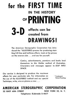3-D Comic Books - 3dfilmarchive D Line, Glitch, First Time, 3 D, Comic Books, Comics, Prints, Kunst, Hacks