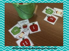 Differentiated Math Stations for Apple-Farm Fun - Differentiated Kindergarten