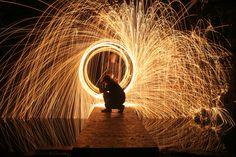 Light Graffiti Steel Wool 4  by ~Glenn-Cook-Filmslr