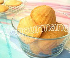 Recette de madeleines sans gluten à la farine de riz - Blog cuisine bio - Recettes bio Cuisine bio sans gluten sans lait