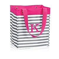 Essential Storage Tote in Grey Wave   Thirty-One Gifts