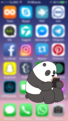 Love this panda! Phone Screen Wallpaper, Wallpaper Iphone Cute, Tumblr Wallpaper, Cartoon Wallpaper, Disney Wallpaper, Wallpaper Quotes, Pattern Wallpaper, Cute Wallpapers, Iphone Wallpaper