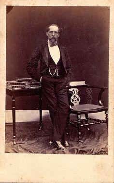 Charles Dickens, Novelist, Rare Albumen Carte de Visite, Circa 1865