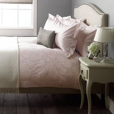 Buy John Lewis Anabella Jacquard Duvet Covers Online at johnlewis.com   For spare bed in pink, duck egg blue or yellow/gold