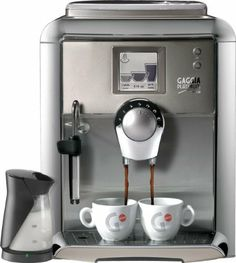 Gaggia 90950 Platinum Vision Espresso Machine w/Milk Island - Platinum by Gaggia. $1424.00. Stainless Steel front panel. 8.8 oz sealable bean hopper. Included Gaggia Milk Island. Espresso Plus System. 15 bar pump. Ceramic burr grinder with adjustable settings. Actively heated cup warmer holds four demitasse cups. 1300 watts 110/120 volts. Coffee dosage from 7-10.5 grams. One 1300-watt boiler that assures Rapid Steam. 14.6Hx 12.6W x 16.4D. Removable brew group. Eight lang...