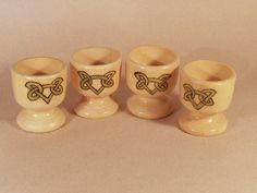 More egg cups with our own Celtic pattern