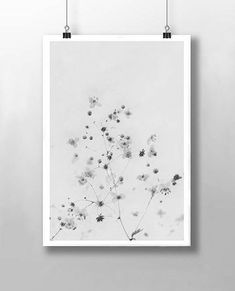 Floral Print This is an abstract poster print featuring wild flowers . From the close up sample image you can see that it has a layered texture adding a subtle vintage quality. The print shown is in black and white, however one of the sample images also shows you how it can look with a hint of colour. If you would like to see alternative colours, please let me know by selecting YES in the drop down box. Id be happy to work with you to get exactly what youre looking for.  You can either…