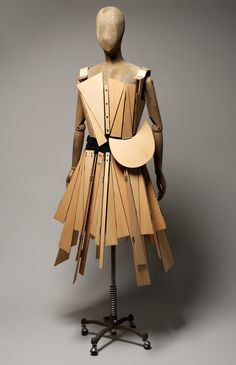 Wooden Dress, front, Yohji Yamamoto, fall-winter 191-92