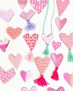 hello, Wonderful - DIY CARDBOARD HEART TASSEL NECKLACES