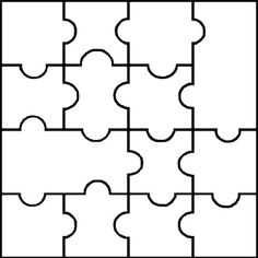puzzle cut out template - free printable paper craft patterns and templates