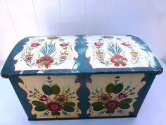 Norwegian Per Lysne Rosemaling Trunk Signed Dated Chest Wisconsin | eBay
