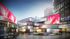 10 DESIGN Summer International Retail Centre and Mixed Use Development, Zhuhai, China Retail Architecture, Architecture Magazines, Commercial Architecture, Futuristic Architecture, Minecraft Architecture, Mall Facade, Retail Facade, Commercial Complex, Commercial Street