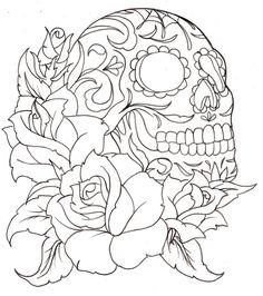 Sugar Skull Tattoo by ~Metacharis on deviantART