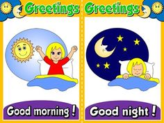 Greetings and Names - Set of 6 Flashcards
