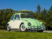 1967 Volkswagen Bug - Green And White #vw #beetle.