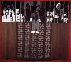 Hannah Ryggen Drommedod 1936, wool and linen tapestry