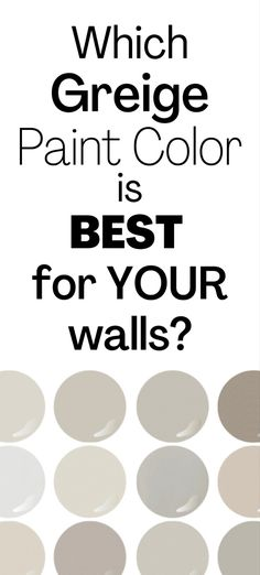 Greige paint colors are super popular, highly versatile, and perfectly suited for many types of homes. Find out which greige paint is the best for your home! #greige #paintcolorideas #sherwinwilliamsagreeablegray