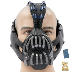 Bane Batman Mask Half Face Mask & Change Voice - Highest Quality- The Dark Knight Rises Cosplay Costume Accessories