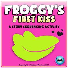 This story sequencing (order of events) activity accompanies the book, Froggy's First Kiss by Jonathan London.  This is a cute story to read for Valentine's Day or during Valentine's Day week, and this activity is a fun way to practice sequencing.  Ways to Use in your Classroom:1)Centers - It can be printed once, laminated, cut out and used as a center activity.