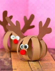 Paper Ball Reindeer Craft – Easy Peasy and Fun - Rentier basteln