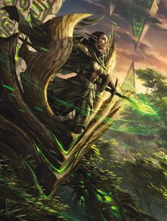 Nissa Planeswalker - Battle for Zendikar - Art for Magic the Gathering