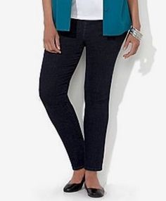 CATHERINES PLUS SIZE EVERYDAY JEANS - BLACK - PLUS SIZE 28W #LizMeforCatherines #Relaxed