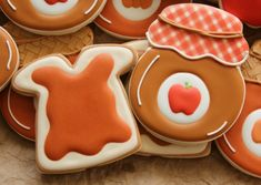 Jelly jar cookie from a skull cookie cutter