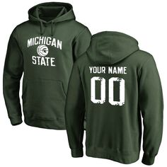 Michigan State Spartans Personalized Distressed Basketball Pullover Hoodie - Green - $69.99
