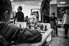 Sports – series, second prize A young chess player in the Czech Republic expresses himself during a game