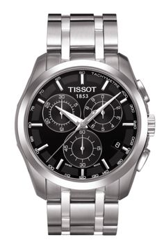tissot t0334102205300 silver gold stainless steel watch tissot couturier men s quartz chronograph black dial watch stainless steel bracelet
