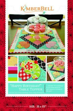 Just a Little Something...for a Happy Birthday! Table Topper | Quilting Pattern | YouCanMakeThis.com