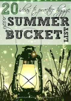 Hygge isn't just for hibernating in the winter! Here are 20 ways to practice the art of hygge this summer. Consider it your summer bucket list! Hygge is the Danish concept of coziness…the art of cr… Summer Fun, Summer Time, Summer Ideas, Summer Things, Fun Things, Summer Hygge, Hygge Life, Hygge House, Cozy Living