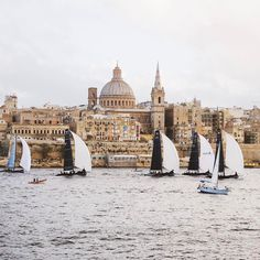 Sunday Morning with a view of Malta's Capital City #Valletta  Featured Photographer: @magdaazab  Tag your #photos with #MaltaPhotography to get a chance to be #featured on @maltaphotography - http://ift.tt/1T1gqWE  #Church #history #sea #weekend #capital #city #yacht #colours #island #jj #Malta #Photography #instagramhub #instafamous #photooftheday #picoftheday #lonelyplanet #travel #destination #worlderlust #beautifuldestinations