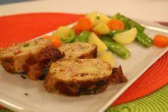 Rocambole de Frango com Bacon | Receitas | Dia Dia