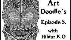 Art Doodles with Hildur.K.O Episode 5 #illustration  #drawing  #youtube #doodles # abstract #timelapse  #artwork #inspiration #meditation #coloringforadults